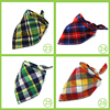 New Winter Dog Bandanas Cotton Plaid Washable Pet Bandanas Scarf Bow ties Collar Cat Samll middle large dog Grooming Products 4