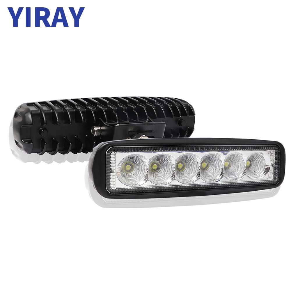 YIRAY 6 inch 18W 6500k LED Strip Light Work Bar for Off-road vehicle ATV Truck Boat  Bus Engineering