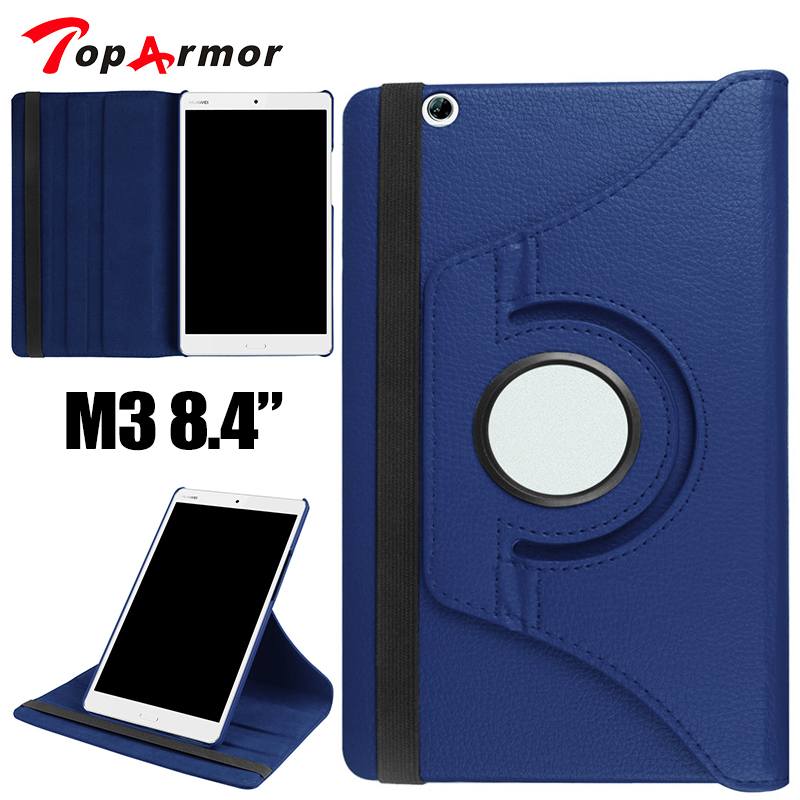 TopArmor Brand 360 Rotating PU Leather case for Huawei MediaPad M3 8.4 BTV-W09 BTV-DL09 protective sleeves tablet case cover