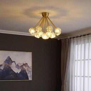 Image 2 - Yeni kristal modern avize abartılı bakır İskandinav restoran oturma odası yatak odası dekorasyon lamba