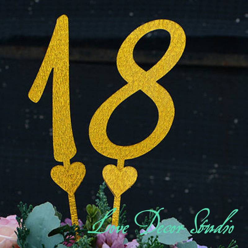 product Acrylic Wedding tabel numbers Calligraphy Script table Numbers or Cake Toppers 002