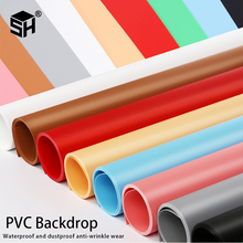 Solid Color Matt Frosted PVC Background Plate 3PCS 43*60cm Photography Backdrop Background Cloth Waterproof Anti wrinkle