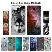 Чехол для Meizu M3 Max Meiblue 3 Max 6,0 дюйма, тонкий мягкий чехол из ТПУ, защитный чехол с рисунком пейзажа, чехол s для Meizu M3 MAX