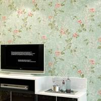 American Country Pastoral Floral Bronzing Fabric Non Woven Wall Paper Livingroom Bedroom TV Backdrop Wallcovering Wallpaper