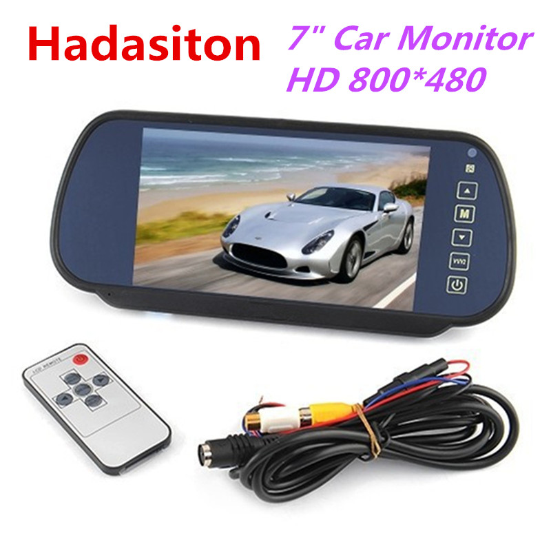 7 Inch TFT LCD Screen Car Monitor Rearview Mirror Monitor Reversing Parking Assistant