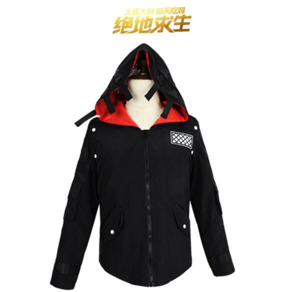 PUBG Playerunknown's Battlegrounds Cosplay Costumes Hooded Jacket Cloak Middle Ages Trench High Quality Chicken Dinner with Mask