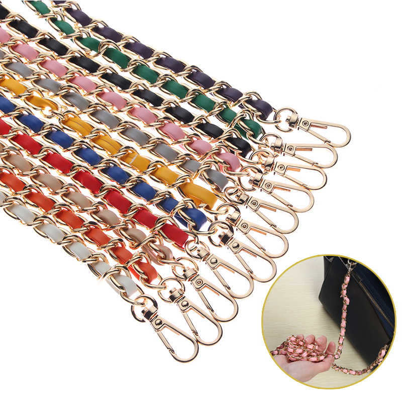 2019 New 120cm Women PU + Chain Bag Straps 10 Colors Ladies Handbag & Shoulder Bags Bag Belt Handles