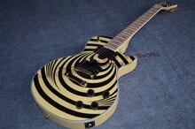 Neue Ankunft G les benutzerdefinierte gelb schwarz Zakk Wylde Bullseye E-Gitarre mit EMG Stil Pickups freies shippin
