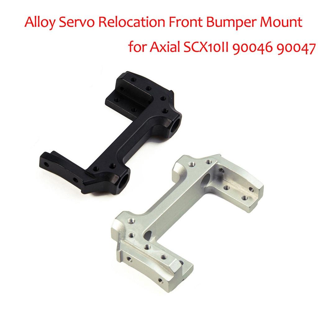 Alloy Servo Relocation Front Bumper Mount for 1//10 RC Axial SCX10II 90046 90047