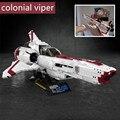 Bloco de construção modelo de Battlestar Galactica MOC Colonial Viper MKII Ciência brinquedos presente de aniversário fit legoings Ficition MOC-9424