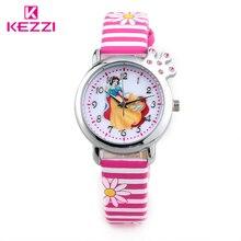 Princess Cartoon Watch HK Brand KEZZI 30M Children Watch For Gift Light Candy Zebra Colors Watches