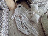 Бренд Женская мода высокого класса люкс зимняя домашняя звезда эластичный Вышивка норки кашемира комплекты пижамы