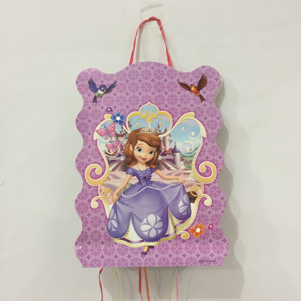 1pcs Princess Kids Favors Cartoon Sofia Theme Pinata Baby Shower Happy Birthday Party Game Gifts Decoration Supplies image