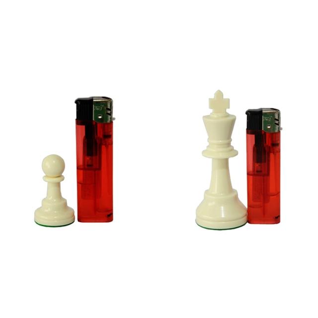 Jeu d'échecs Standard International, compétition King de 97mm, grand jeu d'échecs en plastique avec 4 jeux de société queen qenueson 6