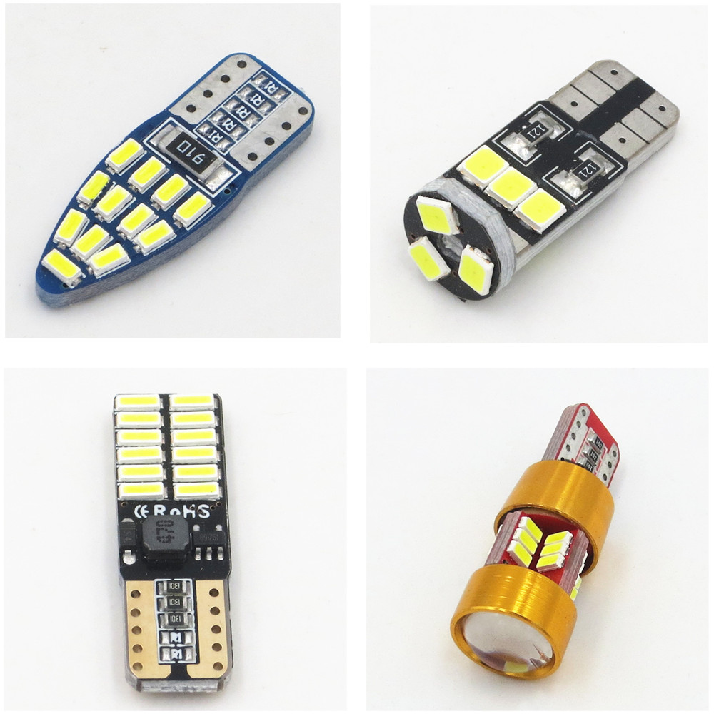 CYAN SOIL BAY 1x T10 W5W Canbus Error Free SMD 3030 4014 LED Wedge Bulb Car Parking Auto Clearance Light 12V White No Error cyan soil bay 9led 5630 smd festoon c5w canbus error free auto car dome license plate map reading light bulb 36mm white ice blue