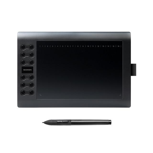 GAOMON M106K-profesjonalne 10 cali Tablet graficzny do rysowania z USB sztuki cyfrowy Tablet 2048 poziomów długopis