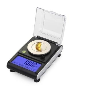 Image 2 - Balanza electrónica Digital de 50g y 0.001g, balanza Digital de diamante con pantalla LCD táctil de precisión de 0.001g, para peso y contar en laboratorio