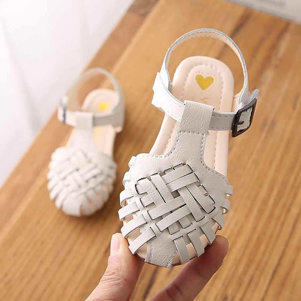ילדי נעליים לפעוטות ילדה חוף סנדלים מקרית אופנה אביב נעל חמוד אריגת ריקוד נעל מוצק רך נסיכת סנדלי Sneaker