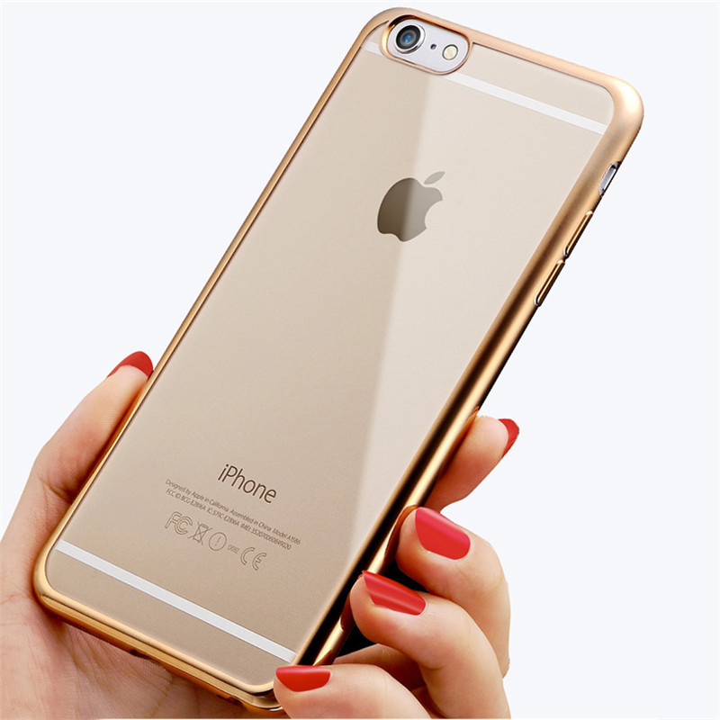 Maxfind Royal Luxury style Plating Gilded TPU Phone silicone soft Back Case Cover For Apple iPhone 6 6S 4.7 / 6Plus 6S Plus 5.5inch