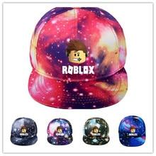 Детские летние бейсболки горячая игры Roblox напечатано стильная кепка для мальчиков повседневная шляпы девочек шапки для детей'ы игрушки шляпы день рождения подарок