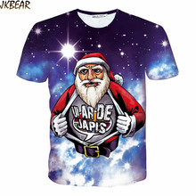 Funny Santa Claus 'Ui ar de Japis' Ugly Christmas T Shirts for Men and Women Full Print 3D Galaxy Tee Shirt S-XXL