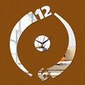 2016 new 3d wall clockNeedle  living room quartz home decoration diy mirror clocks art watch decor hot sale free shipping