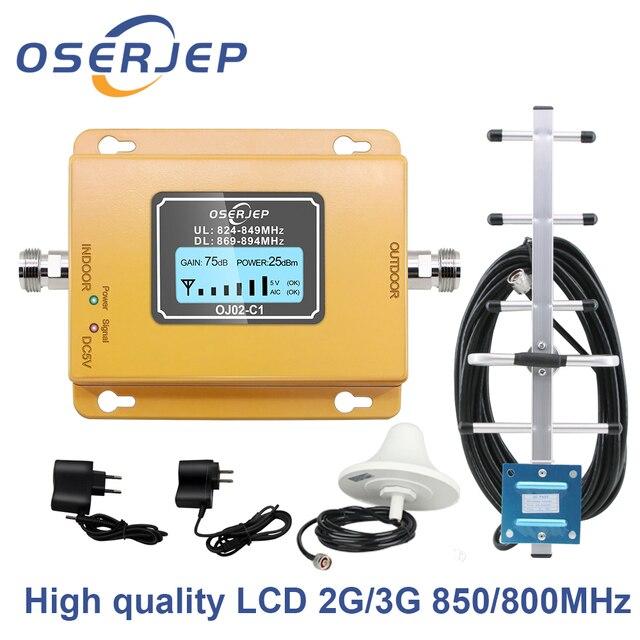 Gain70db cdma 신호 증폭기 lte 대역 5 (850 cdma) gsm cdma 850 mhz 휴대 전화 신호 부스터 리피터 + 야기 안테나