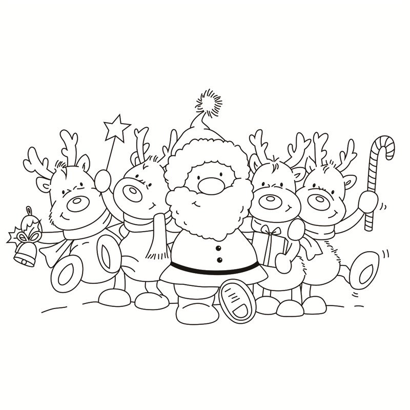 2019 new Christmas Transparent Clear Stamps for DIY