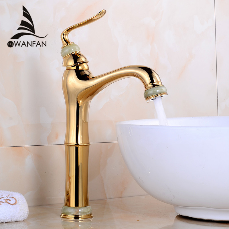 Basin Faucets Gold-plating Bathroom Taps Rose Gold Vanity Jade Home Decoration Hot and Cold Concrete Mixer Taps AY-13013 acapulco gold толстовка