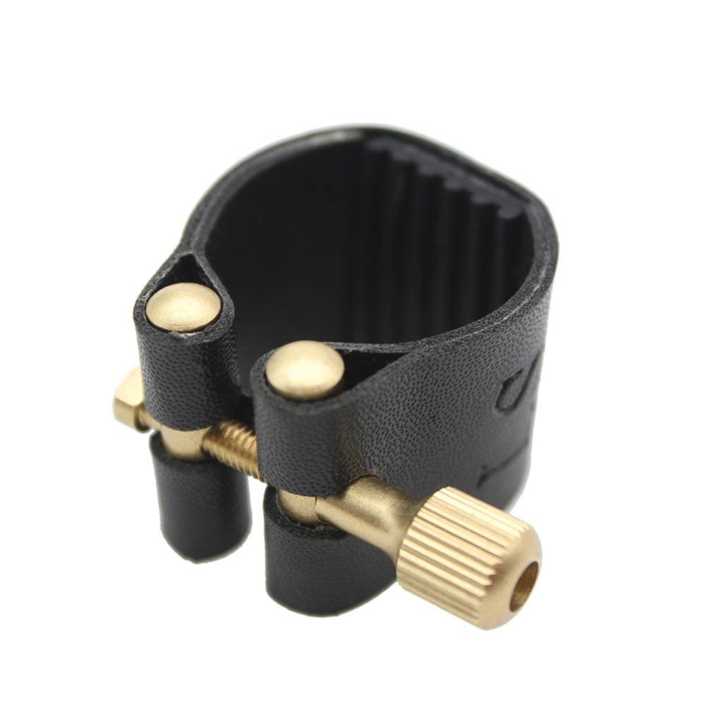 GooTon Artificial Leather Compact Ligature with Plastic Cap for Alto Sax Saxophone Rubber Mouthpiece