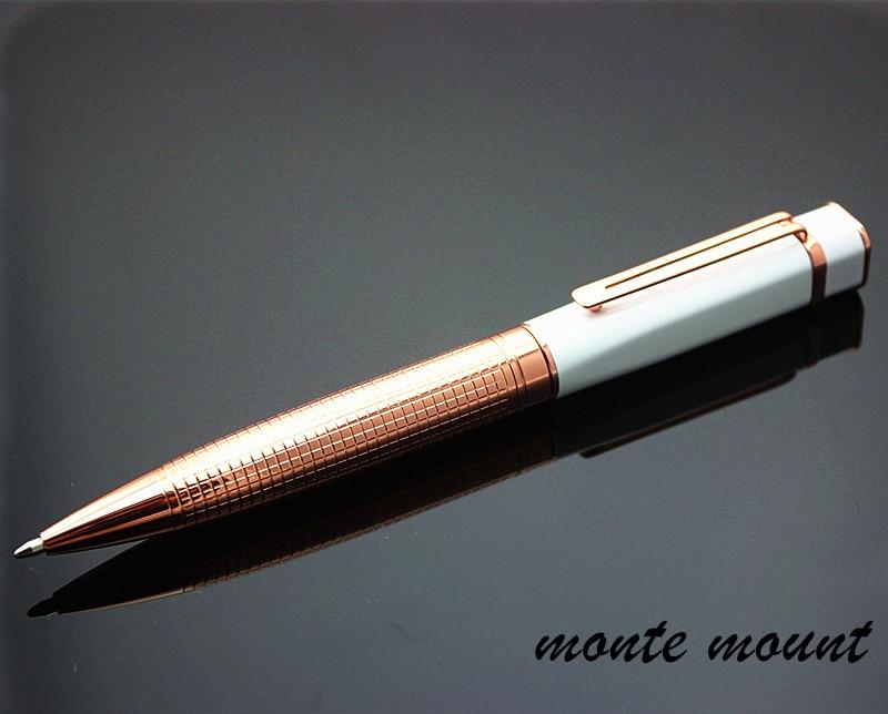 Colibri Slim Brown Marble Look Ballpoint Pen NEW