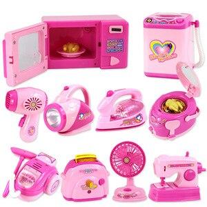 Children's mini Educational Kitchen Toys Pink Household Appliances Children Play Kitchen For Kids Girls Gift Toy Dropshipping
