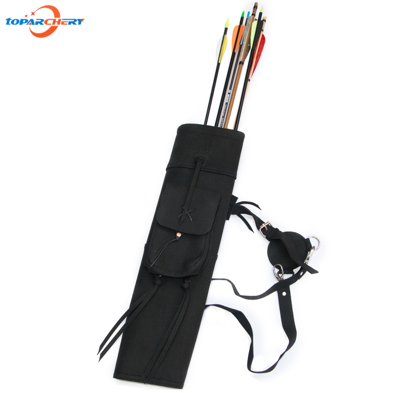 Cow Leather Archery Arrow Quiver for Hunting Shooting Accessories Bow & Arrow Adjusted Belt Shoulder Hanging Arrow Holder Bag