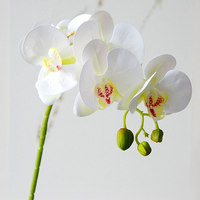 7Pcs Latex Real touch Artificial Orchid flower white Butterfly Orchids fake flower for Home party DIY Wedding Decoration flores