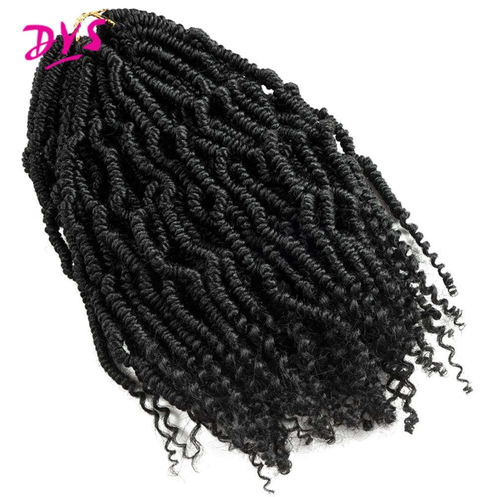 Deyngs Fluffy Passion Spring Twist Hair Synthetic Crotchet Hair Extensions Ombre Curly Twist Crochet Hair Braiding Hair Bulk