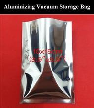 100pcs 10x15cm (3.9″x5.9″) 160micron Open Top Aluminizing Foil Vacuum Bag Heat Sealing Bag USB Hubs/USB Flash Drives Bag