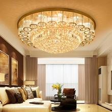 Mediterranean Modern Led Chandelier Lustre Ceiling Luxury Tiffany Style Crystal Chandeliers Lighting For Living Room Bedroom