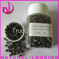 Free shipping,1000pcs/bottle color#3 micro silicone links beads for hair extension,micro rings for wig tool