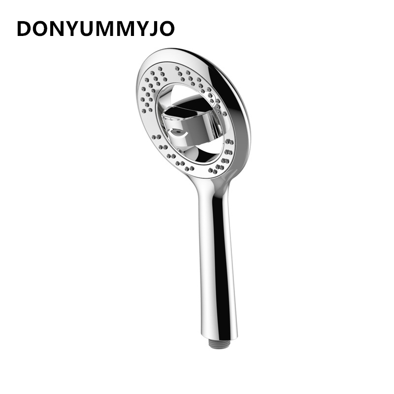 DONYUMMYJO New ABS Plating High-end Handheld Shower Sprayer Oxygen Super Thin Pressurized Water-saving Multifunction Shower Head