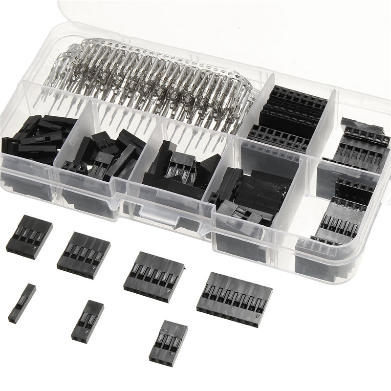310Pcs 2.54mm Male+Female Dupont Wire Jumper And Header Connector Housing Kit Best Price New Electric Unit Electronics Stocks 1000pcs dupont jumper wire cable housing female pin contor terminal 2 54mm new