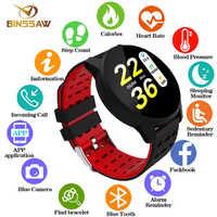 Reloj inteligente binssee para hombre, mujer, Monitor de ritmo cardíaco, presión arterial, Fitness Tracker, reloj inteligente, GPS, deportivo inteligente