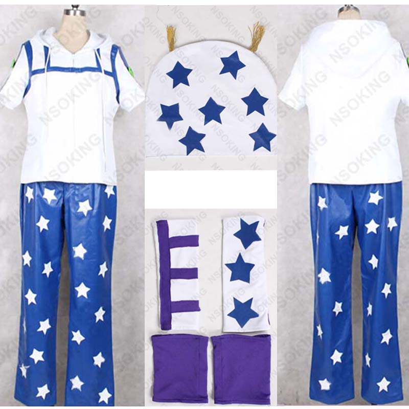 Anime JoJo's Bizarre Adventure Johnny Joestar Cosplay Costume Customized