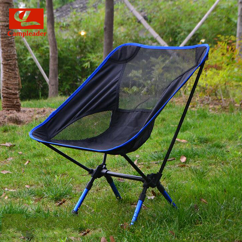 Campleader Outdoor Fishing Chair Barbecue Painting Portable Backrest Chair Folding Chair Camping Beach Stool CL194 costway outdoor aluminum alloy backrest stool camping folding chair oxford cloth fishing chair portable beach chair w0263