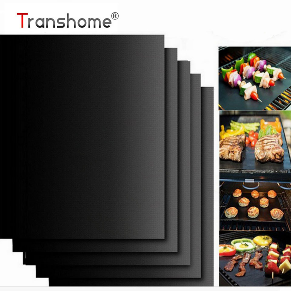 PTFE Non-stick BBQ Grill Mat Barbecue Baking Liners Reusable Teflon Cooking Sheets Cooking Tool Kitchen Accessories