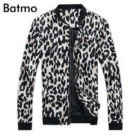 2017 New Arrival High Quality Fashion Spring Casual Slim Stand Collar Leopard Jacket Men Summer Skinny