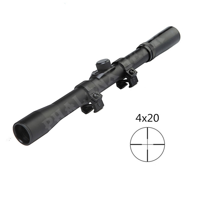 2018 Hunting Army Military Optic Scope Sights 4x20 Monocular Telescope With Hunting Scopes Mount 22 Caliber Device Accessory Kit
