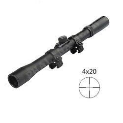 2018 caça militar do exército óptica escopo mira 4x20 telescópio monocular com caça escopos de montagem 22 calibre dispositivo acessório kit