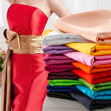 Newly 125 colors polyester spandex two way stretch satin fabric