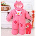 Winter Newborn Infant Baby Clothes Fleece Animal Style Clothing Romper Baby Clothes Cotton-padded Overalls