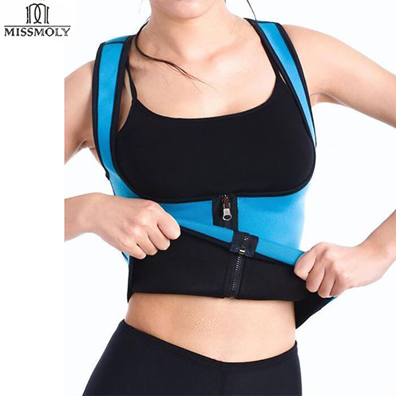 a4f97d740ee83 EXTREME Slimming Thermo Cami Hot Slim Belt Neoprene Hot Body Shaper Vest  Sweat Waist Trainers Shapewear Zipper Vest Strap Women-in Waist Cinchers  from ...